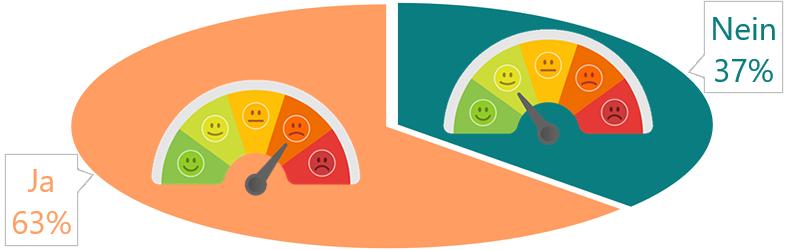 Antwort auf die Frage «Hattest du in den letzten 30 Tagen belastenden Stress?»